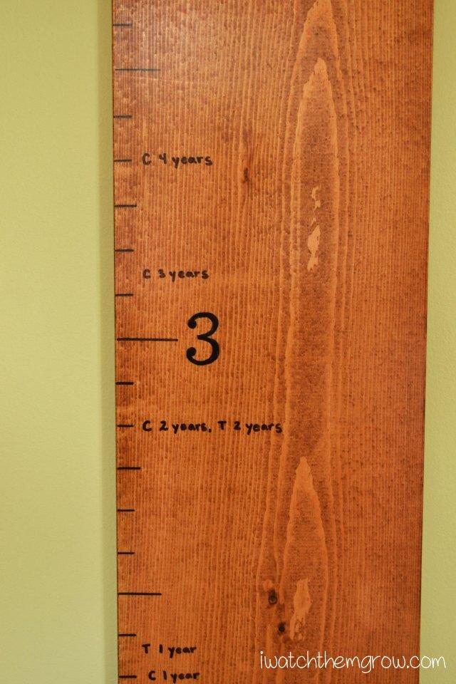 DIY Wood Growth Chart   iwatchthemgrow.com