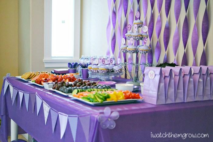 purple birthday party ~ I Watch Them Grow