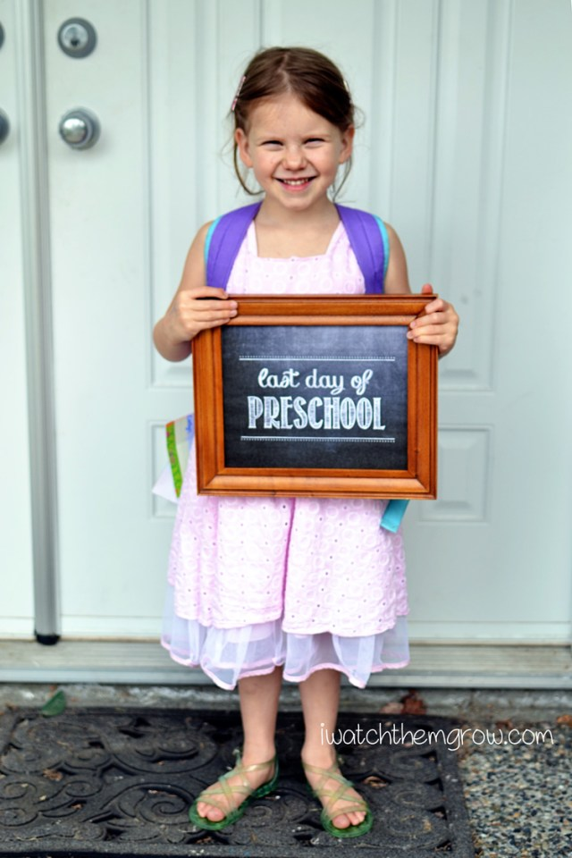 Last Day of Preschool Photo ~ I Watch Them Grow