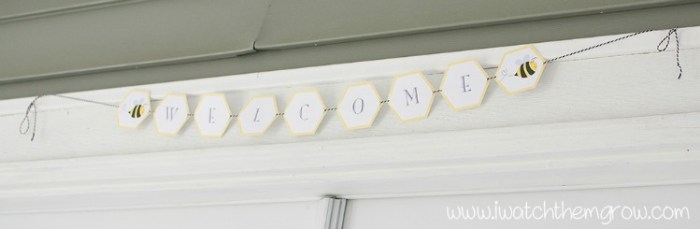 honey bee party welcome sign
