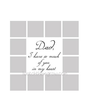 Free Dad photo collage template