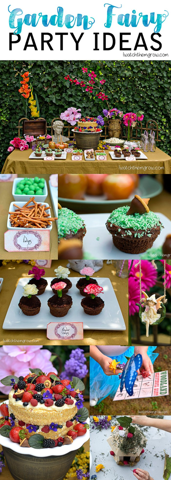 What a gorgeous garden fairy party! Lots of ideas for food, decorations and activities.