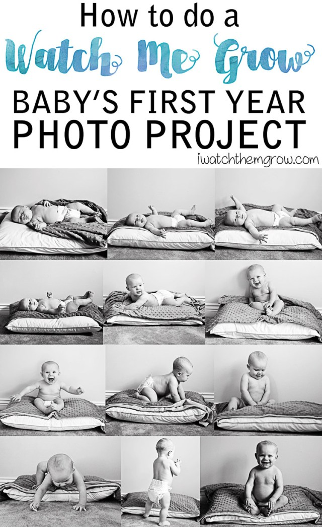 Baby's first year photo project - see how to do it yourself plus some great tips!
