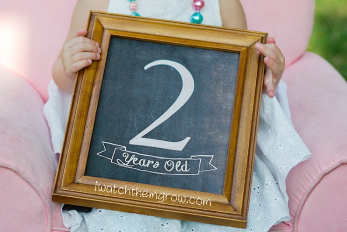 Free printable birthday photo chalkboards