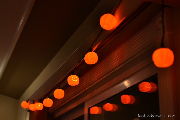 Halloween photo ideas - Halloween lights and decorations
