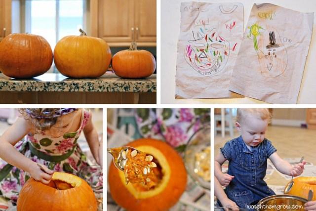Halloween photo ideas - pumpkin carving