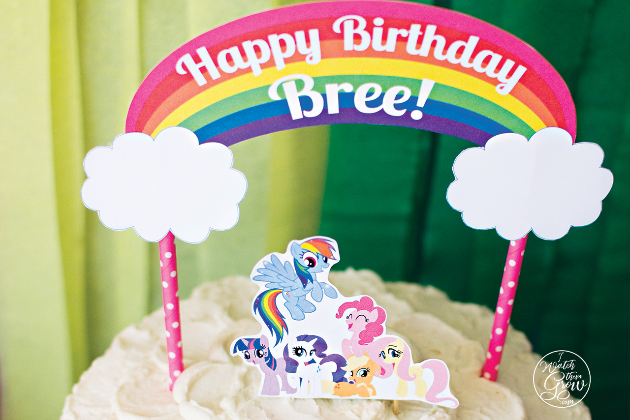 Rainbow Dash Birthday Party Printables My Little Pony Ideas