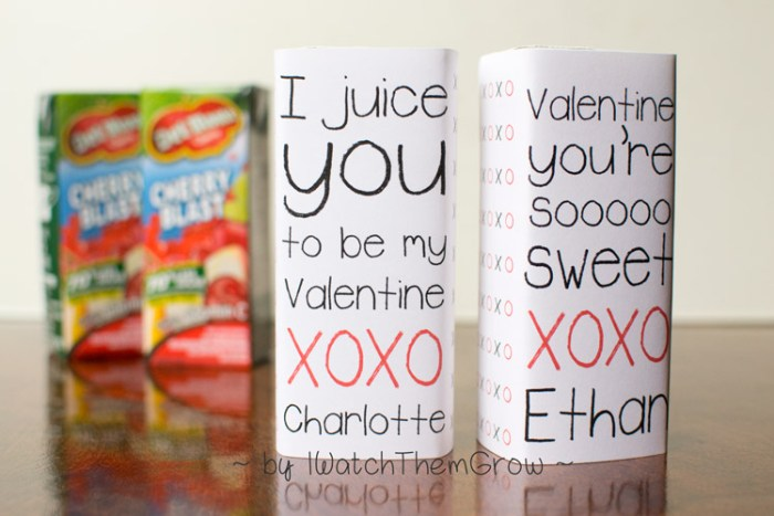 Custom Valentine juice box wrappers!