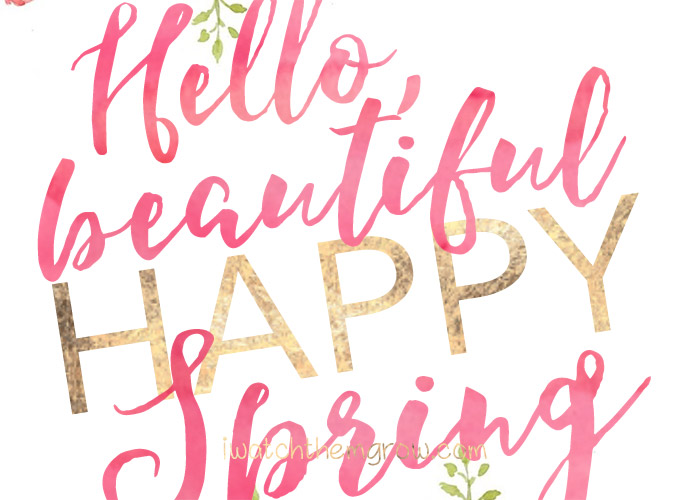 Happy Easter and Hello Spring Printables