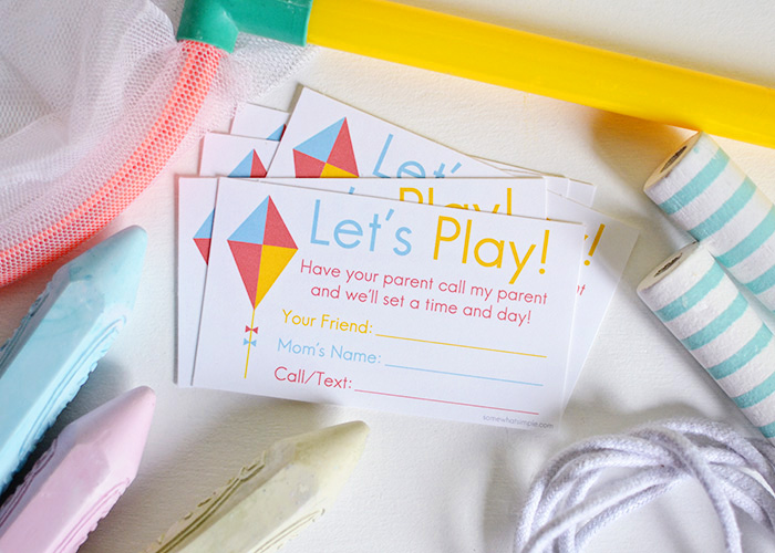 Let's Play! Play Date Invitation Cards (Free Printable)