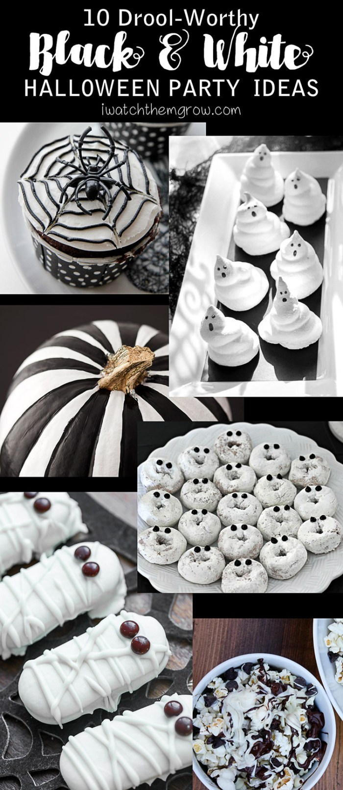 10 Drool-Worthy Black and White Halloween Party Ideas