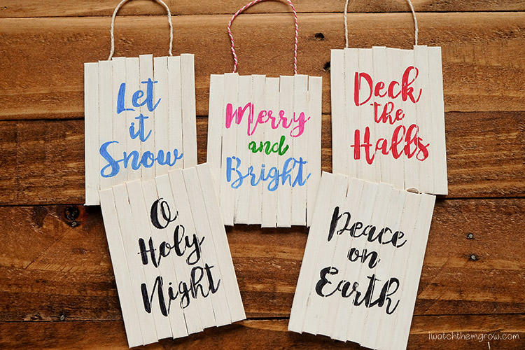 Mini Pallet Sign Christmas Ornament