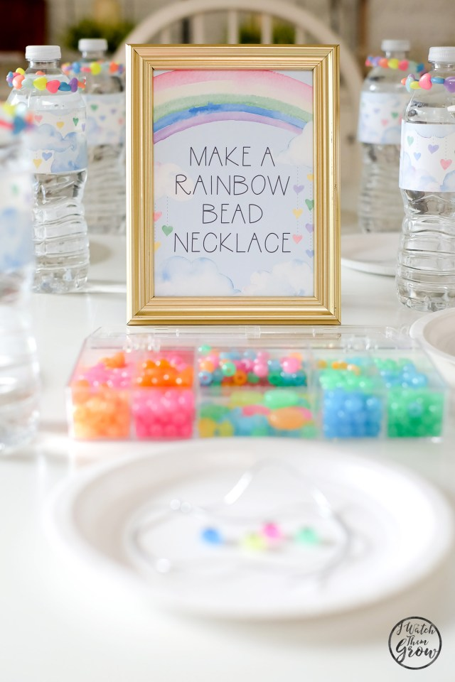 Check out all of the easy DIY ideas in this beautiful watercolor rainbow party!