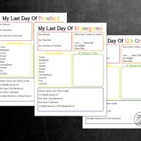 Printable Last Day of School Interview