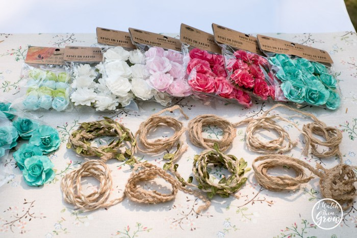 Fairy party games and activities: make a flower crown craft!