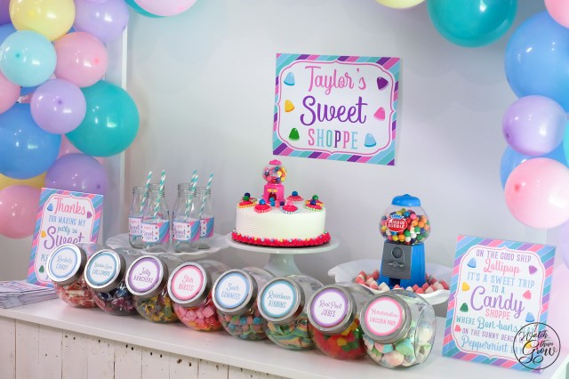 Sweet Shoppe party desert table