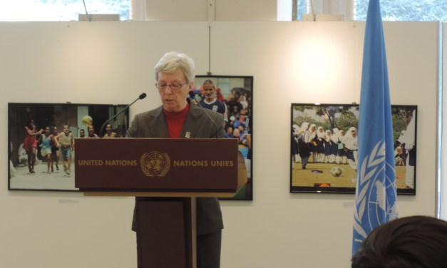 IWBF Secretary General speaks at inauguration of UNOSDP photo exhibition
