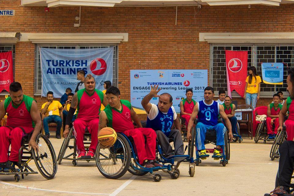 Wheelchair basketball empowering people with disabilities in Nepal.