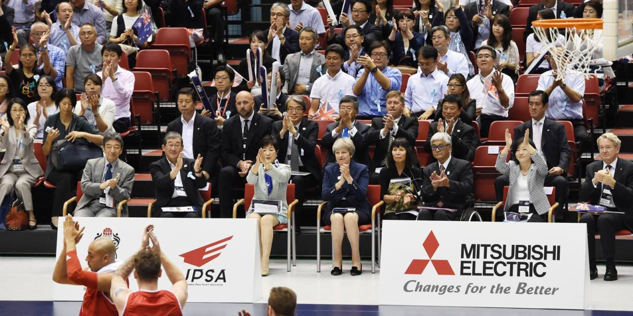UK's Prime Minister Theresa May attends Mitsubishi World Challenge Cup