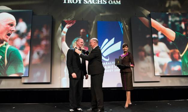 Troy Sachs inducted into Sports Australia Hall of Fame
