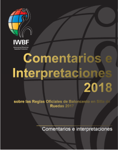 Front Page of the Spanish version of the Official Comments and Interpretations 2018