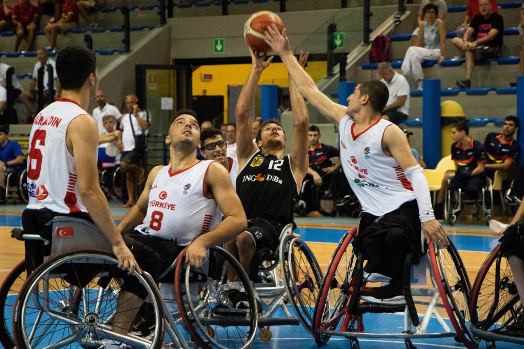 Germany against Turkey in the U22 Men's European Championships