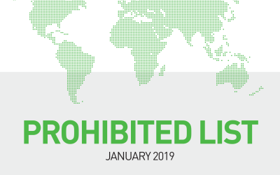 WADA 2019 List of Prohibited Substances and Methods now in force