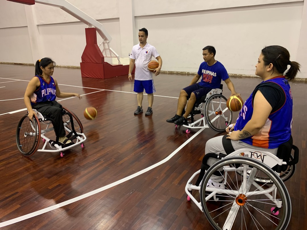 Coaching alongside the women's enjoy the IWBF Asia Oceania's Second Women's Development Camp 2019