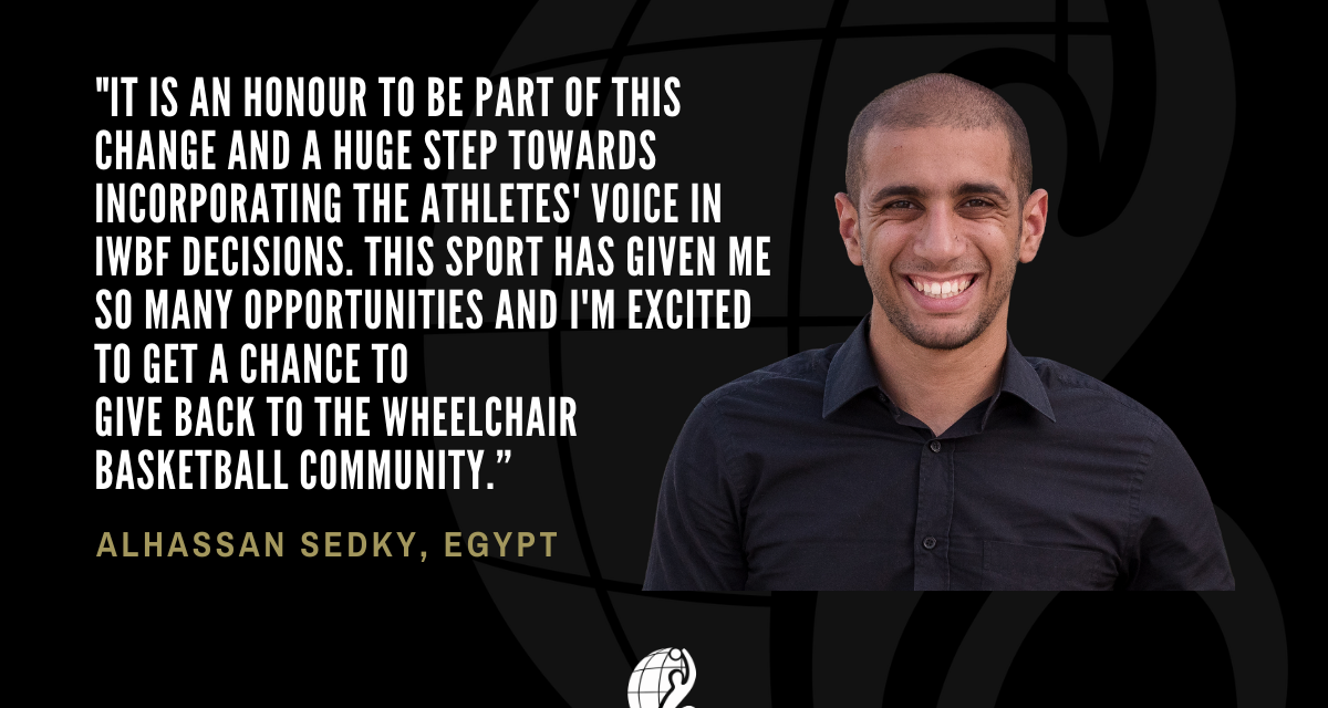 Egypt's Alhassan Sedky excited to give back to wheelchair basketball