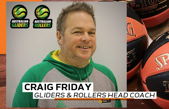Craig Friday appointed dual head coach of the Australian Gliders and Rollers