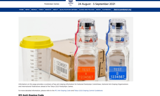 IPC launches Tokyo 2020 anti-doping webpage