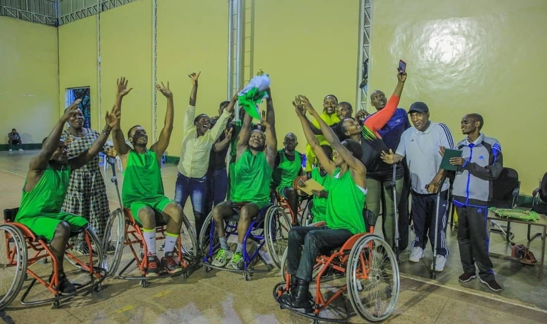 Mukangoga driving Wheelchair Basketball in Rwanda