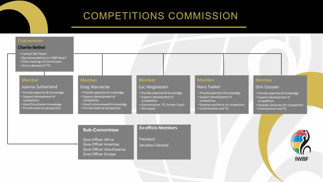 Organisation structure of the Competition Commission