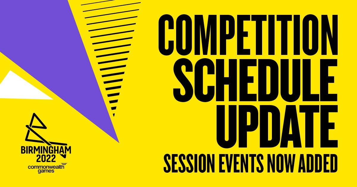 Birmingham 2022 reveal full event schedule