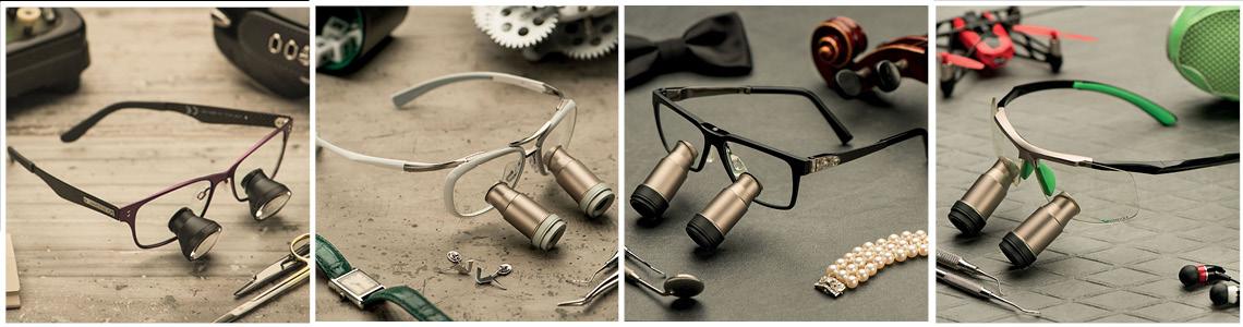 Loepbril met spatbescherming