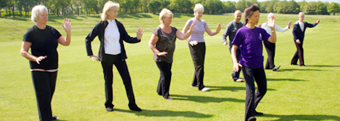 Tai Chi group outdoors