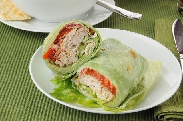 Turkey and Cheese lettuce wrap