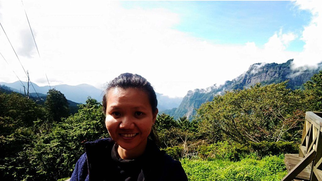 At Ciyun Viewdeck in Alishan National Scenic Area