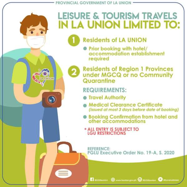 Is it okay to travel to La Union now