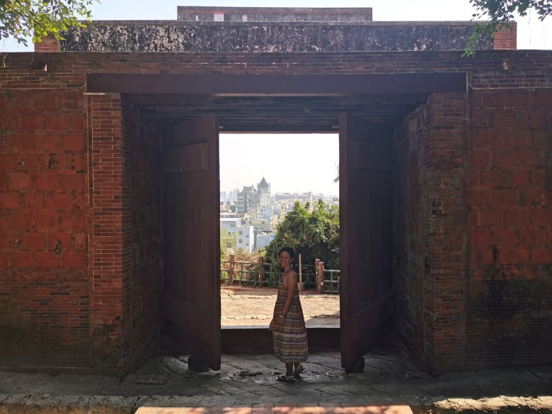 One of the doors at Cihou Fort