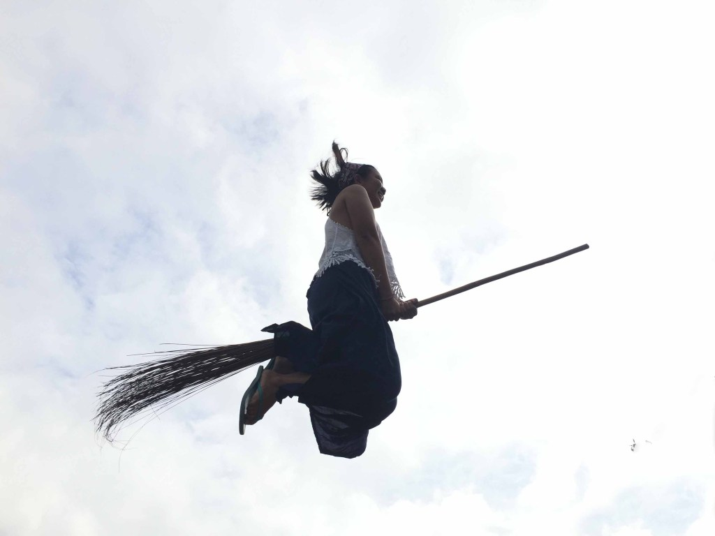The broomstick challenge at Hapitanan Cafe and Restaurant
