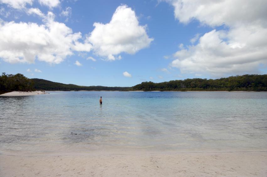 Alone in Lake McKenzie