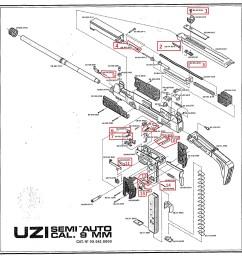 item 19 on the uzi pistol exploded diagram  [ 2021 x 2071 Pixel ]