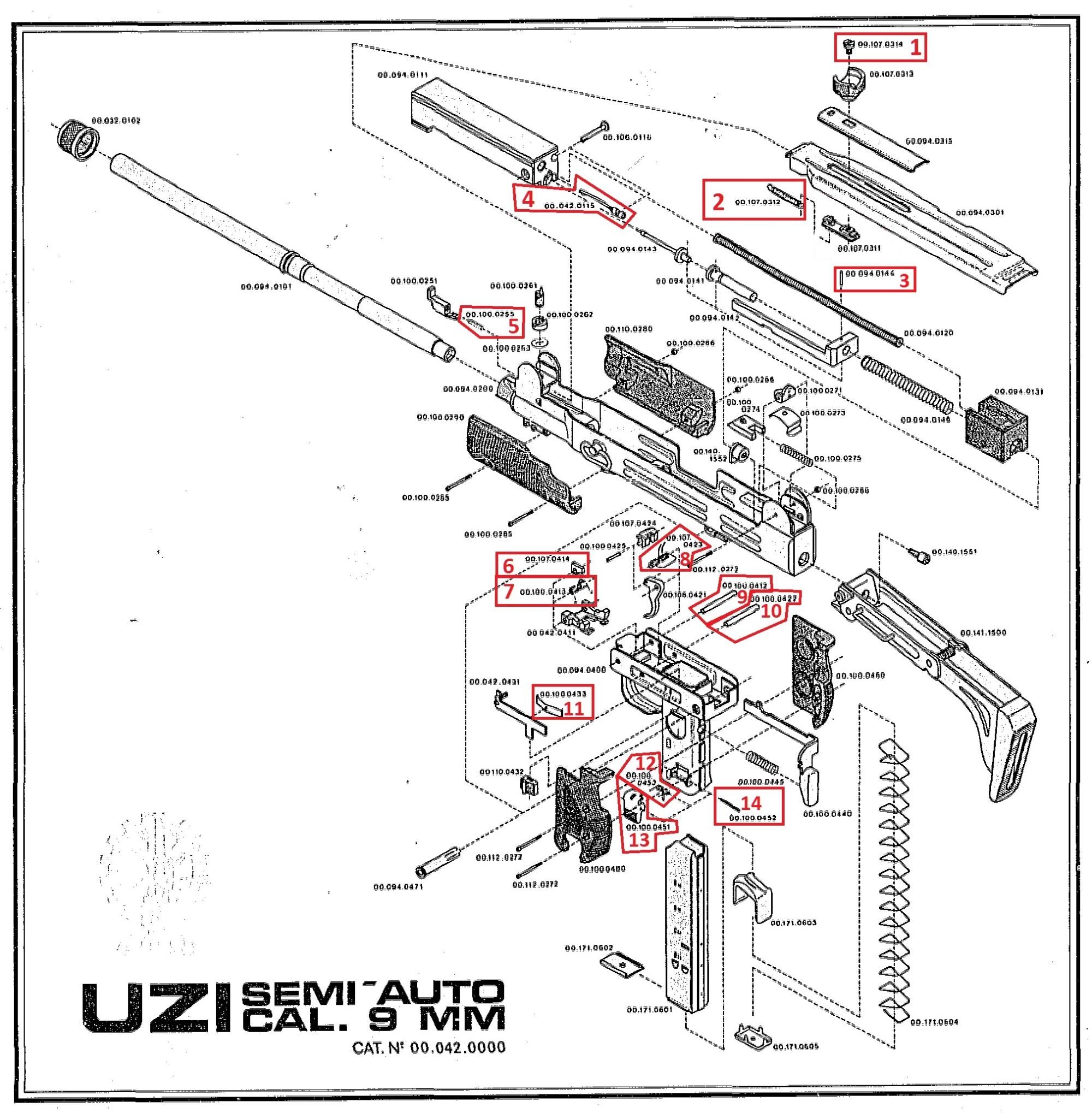 hight resolution of item 19 on the uzi pistol exploded diagram
