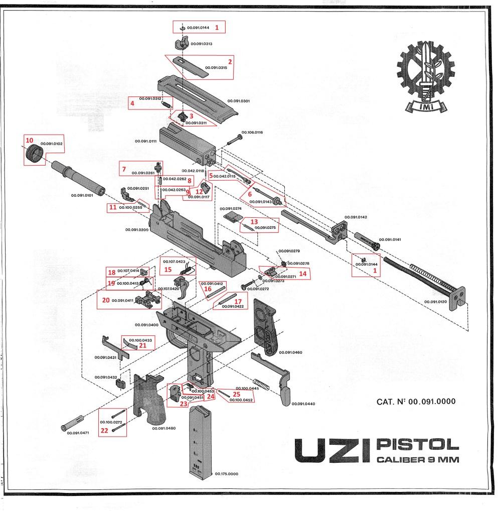 medium resolution of  pistol exploded diagram