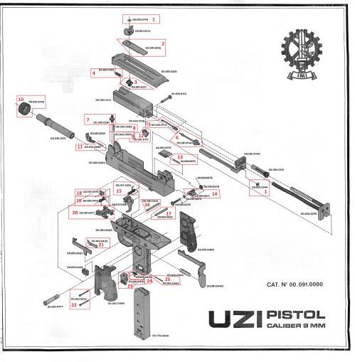small resolution of  pistol exploded diagram