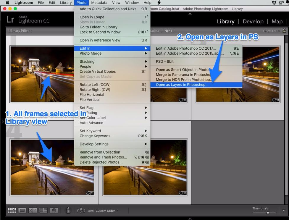 Lightroom open as layers in photoshop