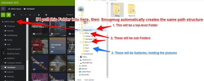 Smugmug upload whole folders
