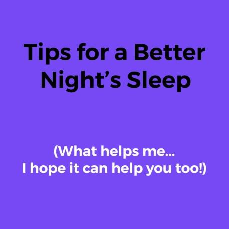 sleep habits and tips