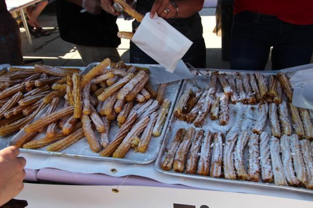 Churros ready to be eaten at the Salsa on St. Clair festival